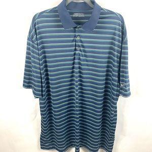 Nike Golf Mens S/SPolo Shirt Fit Dry XXL Blue